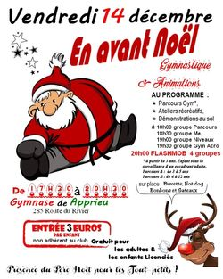 En avant Noël le vendredi 14 décembre 2018 à partir de 17h30 au gymnase